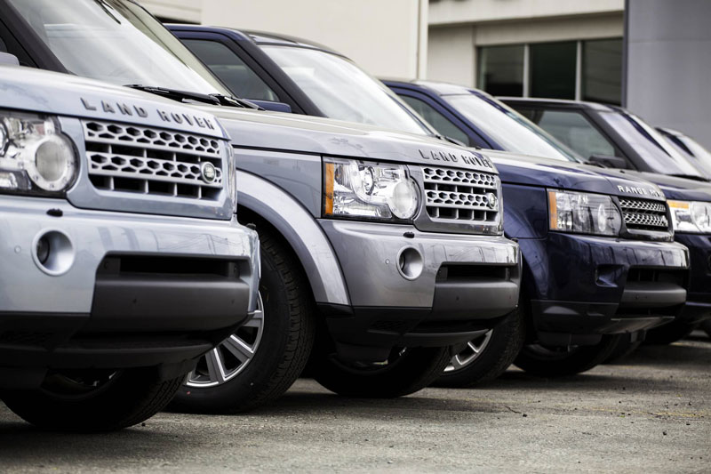 Stock de Land Rover chez un mandataire automobile
