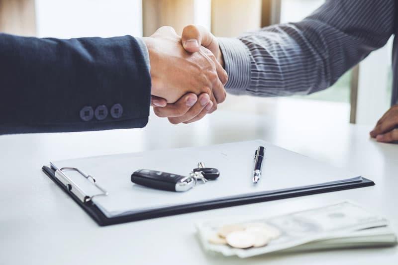 La négociation d'un nouveau véhicule