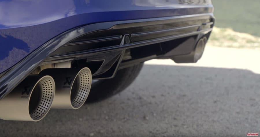 L'échappement Akrapovic sur le Volkswagen T-Roc R