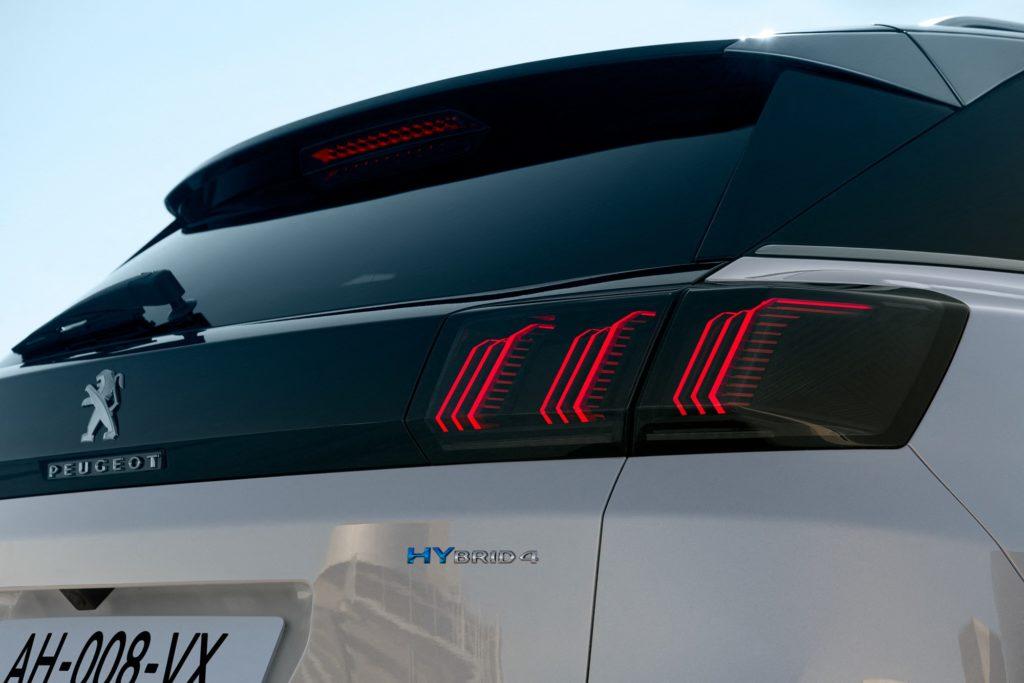 Peugeot 3008 restylé 2020 feux arrière
